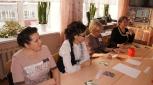 Психолог лицея Н.В.Мохнаткина ведёт психологический тренинг