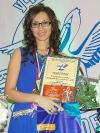 Блистательная М.Ю.Королёва на вручении награды победителя окружного этапа конкурса