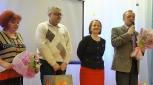 Руководители образования города, руководители гимназии №1 с поздравлениями в адрес конкурсантов от г.Кирово-Чепецка